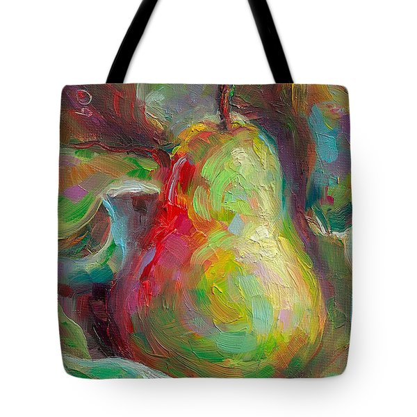 Just A Pear - Impressionist Still Life Tote Bag by Talya Johnson