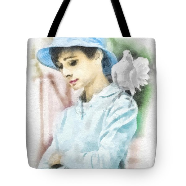 Just Audrey Tote Bag by Mo T