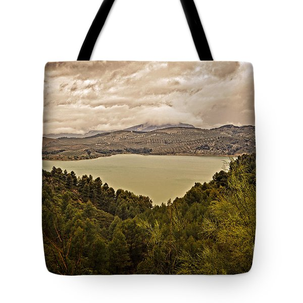 Just Before The Storm - Ardales Tote Bag by Mary Machare