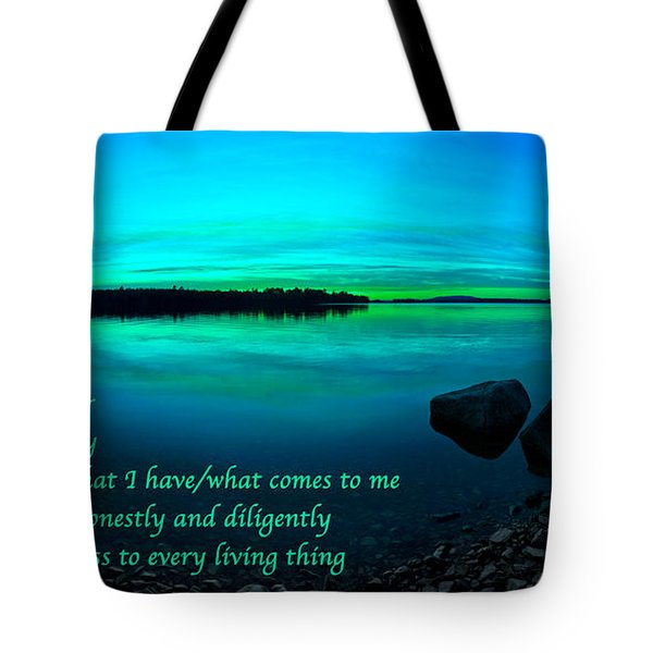 Just For Today 12 Tote Bag by Bill Caldwell -        ABeautifulSky Photography