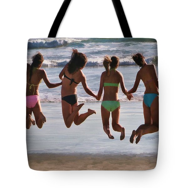 Just Jump Tote Bag by Tammy Espino
