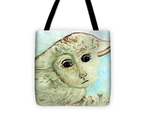 Just One Little Lamb Tote Bag by Eloise  Schneider