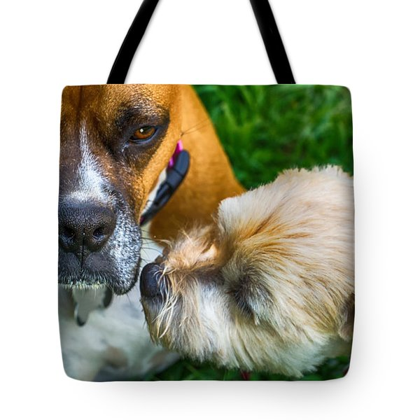 Just One Little Smooch Tote Bag by Barry Jones