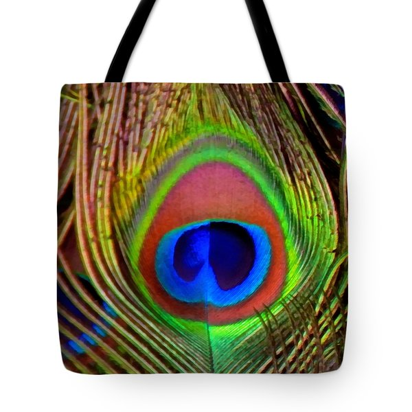 Just One Tail Feather Tote Bag by Angelina Vick