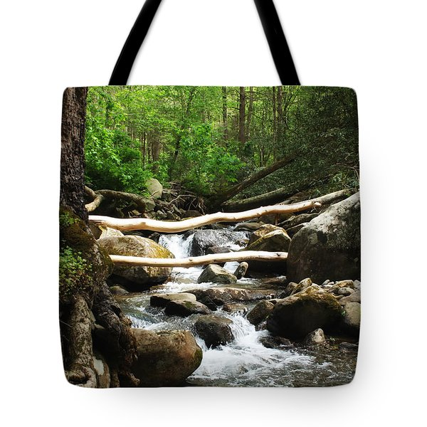 Just Outside Of Gatlinburg Tote Bag by Mountain Dreams