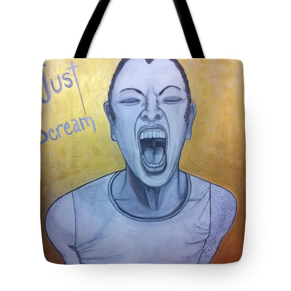 Just Scream Tote Bag by Darlene Graeser