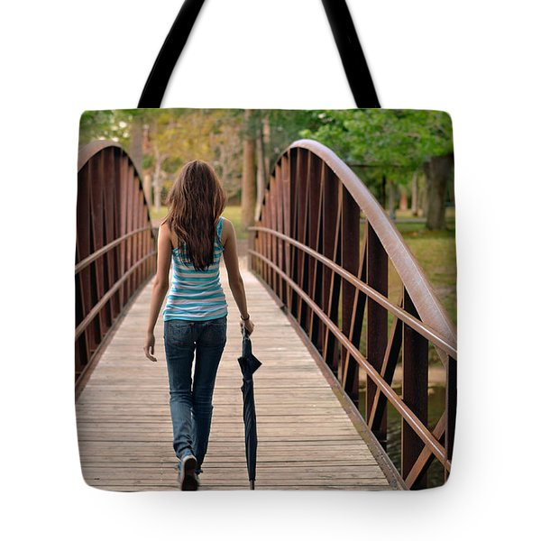 just walk away renee Tote Bag by Laura  Fasulo