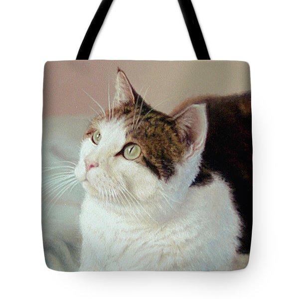 K C  Kitty Cat Tote Bag by Barbara Groff
