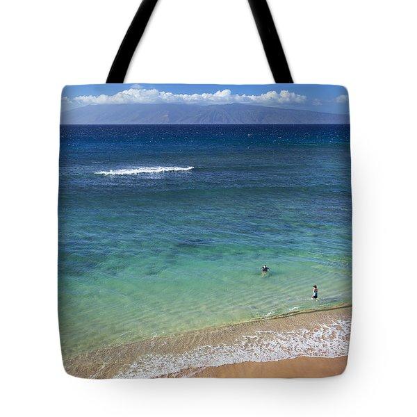 Kaanapali Ocean Aerial Tote Bag by Jenna Szerlag