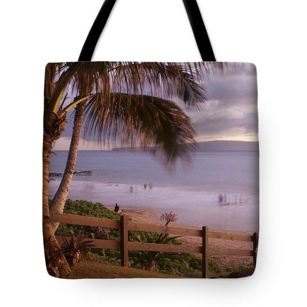 Kai Makani Hoohinuhinu O Kamaole - Kihei Maui Hawaii Tote Bag by Sharon Mau