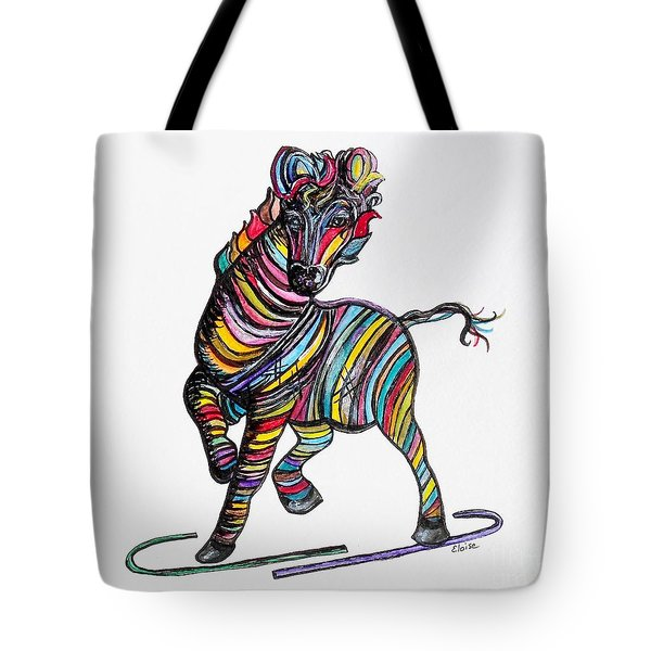 Kaleidoscope Zebra -- Baby Strut Your Stuff  Tote Bag by Eloise Schneider