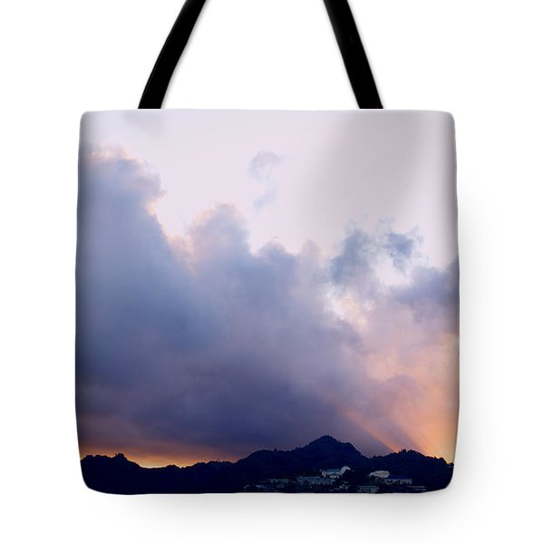 Kamehameha Sunrise Tote Bag by Kevin Smith