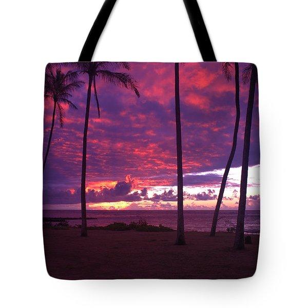 Kapaa Kauai Sunrise Tote Bag by Brian Harig