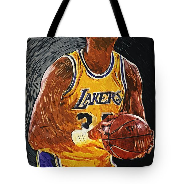 Kareem Abdul-Jabbar Tote Bag by Taylan Soyturk