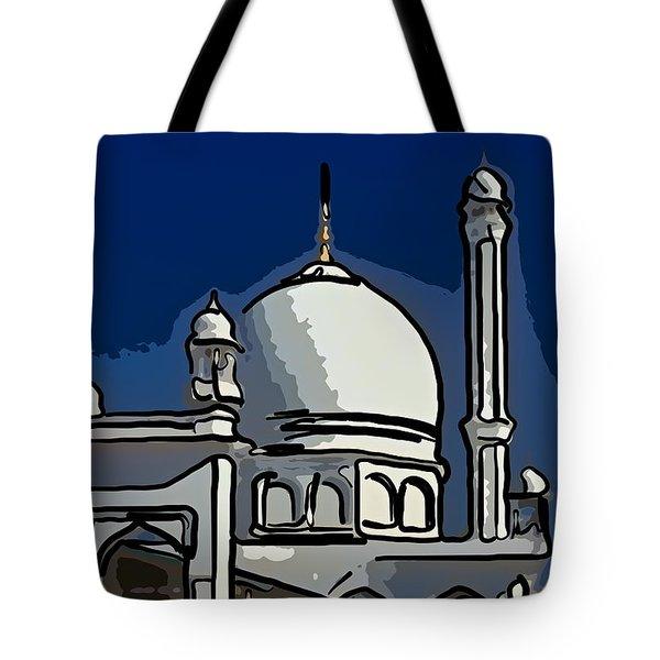 Kashmir Mosque 2 Tote Bag by Steve Harrington