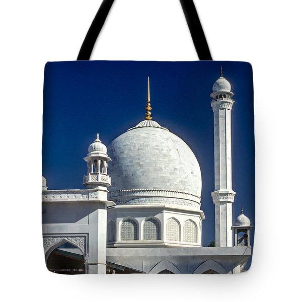 Kashmir Mosque Tote Bag by Steve Harrington