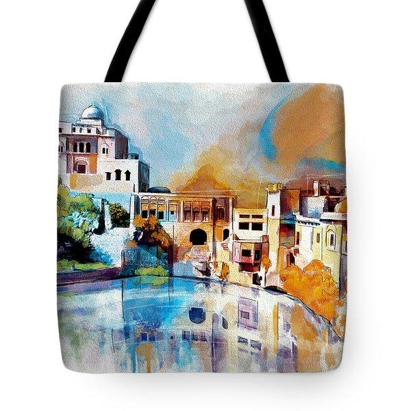 Katas Raj Temple Tote Bag by Catf