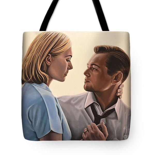 Kate Winslet And Leonardo Dicaprio Tote Bag by Paul Meijering