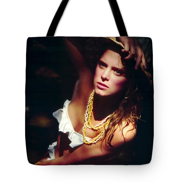 Katie White Hat Tote Bag by Gary Gingrich Galleries