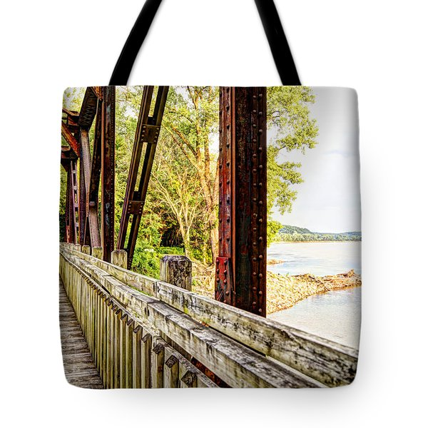 Katy Trail Near Coopers Landing Tote Bag by Cricket Hackmann