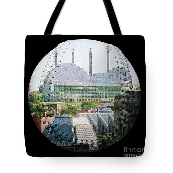 Kauffman Center For The Performing Arts Square Baseball Tote Bag by Andee Design