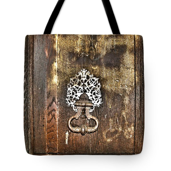 Keep On Knocking Tote Bag by Nomad Art And  Design