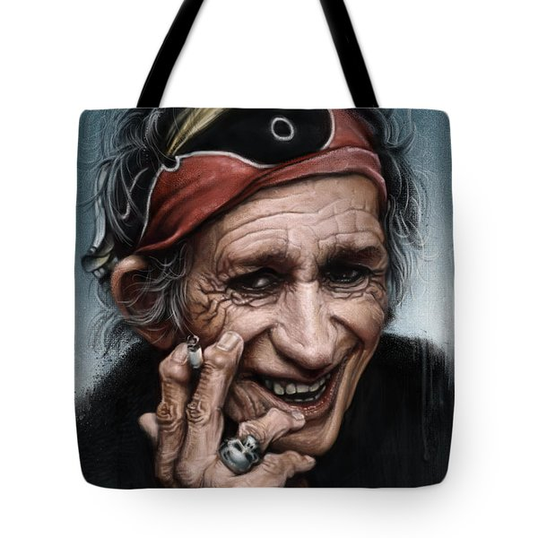 Keith Richards Tote Bag by Andre Koekemoer