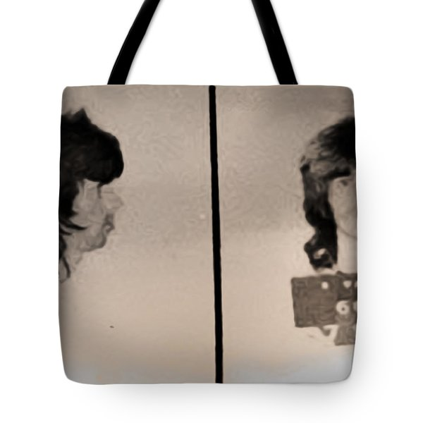 Keith Richards Mugshot - Keith Don't Go Tote Bag by Bill Cannon