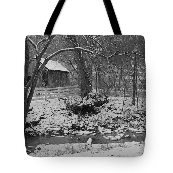 Kentucky Snow Tote Bag by Mary Carol Story