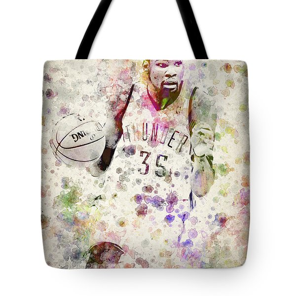 Kevin Durant In Color Tote Bag by Aged Pixel