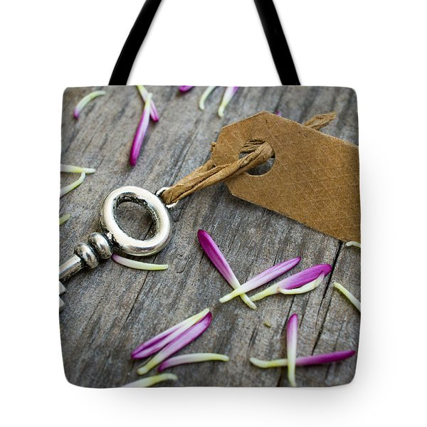 Key With A Label Tote Bag by Aged Pixel