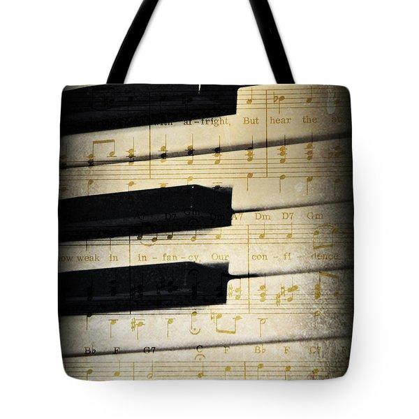 Keyboard Music Tote Bag by Kenny Francis