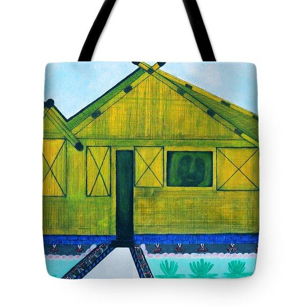 Kiddie House Tote Bag by Lorna Maza