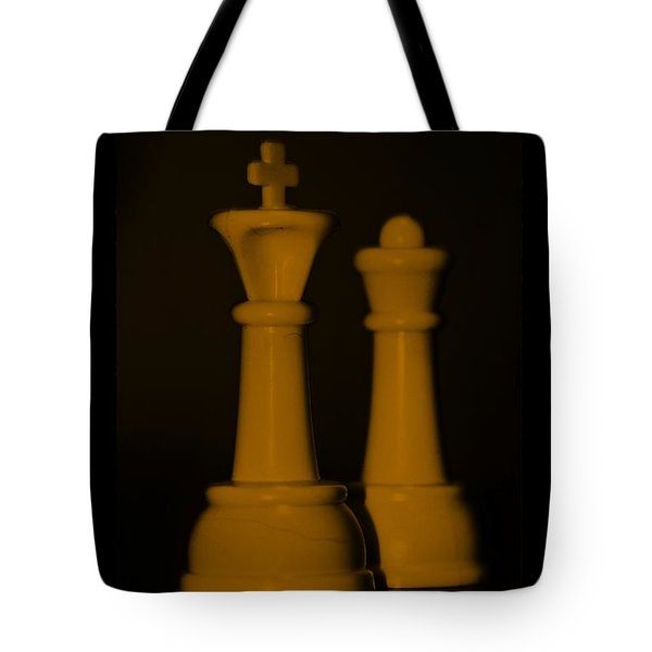 KING AND QUEEN in ORANGE Tote Bag by ROB HANS
