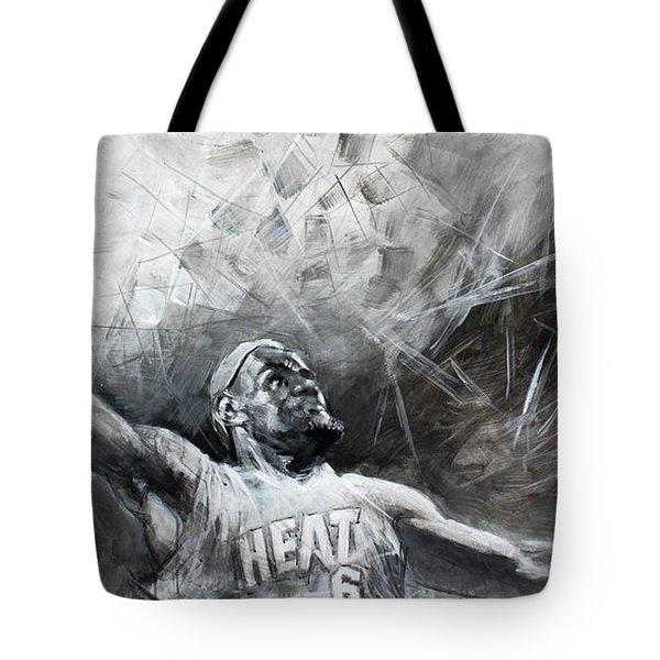 King James Lebron Tote Bag by Ylli Haruni