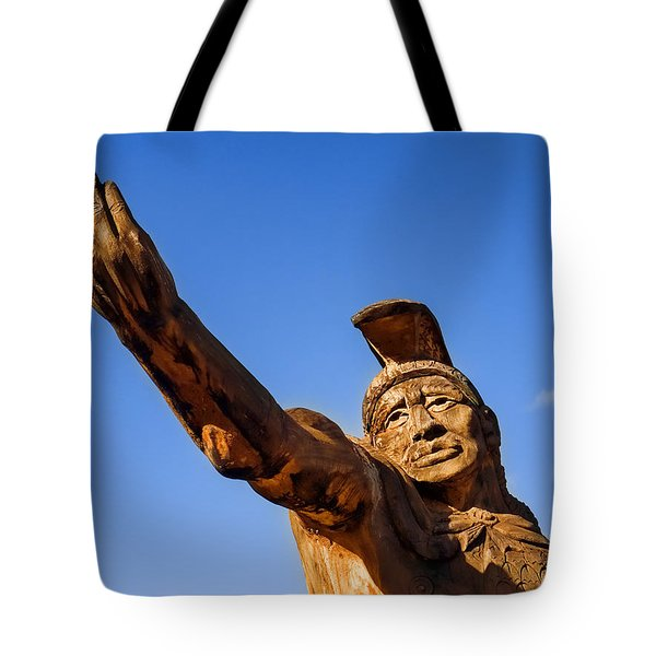 King Kamehameha Tote Bag by Carol Leigh
