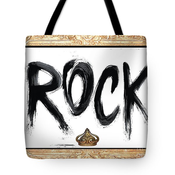 King Of Rock Tote Bag by Anahi DeCanio