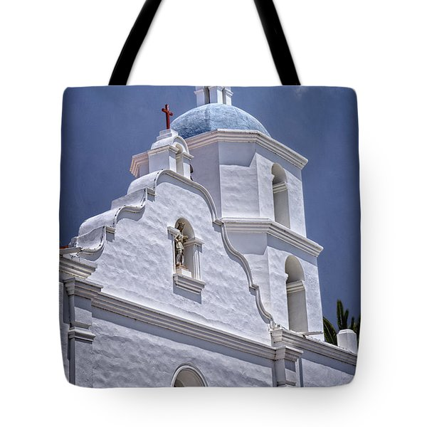 King Of The Missions Tote Bag by Joan Carroll