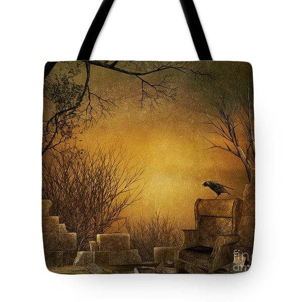 King Of The Ruins Tote Bag by Bedros Awak