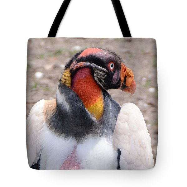 King Vulture Tote Bag by Charlotte Schafer