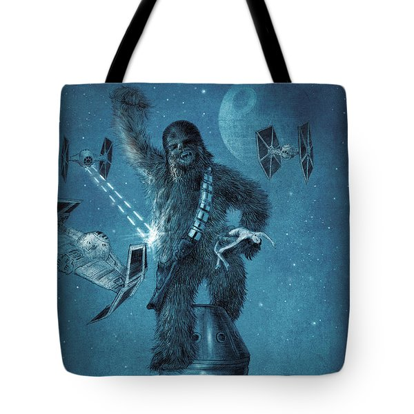 King Wookiee Tote Bag by Eric Fan