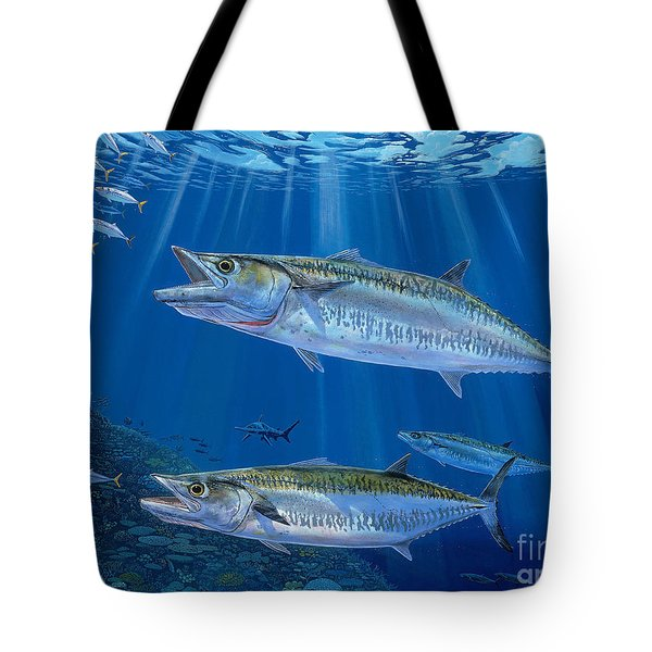 Kingfish Reef Tote Bag by Carey Chen