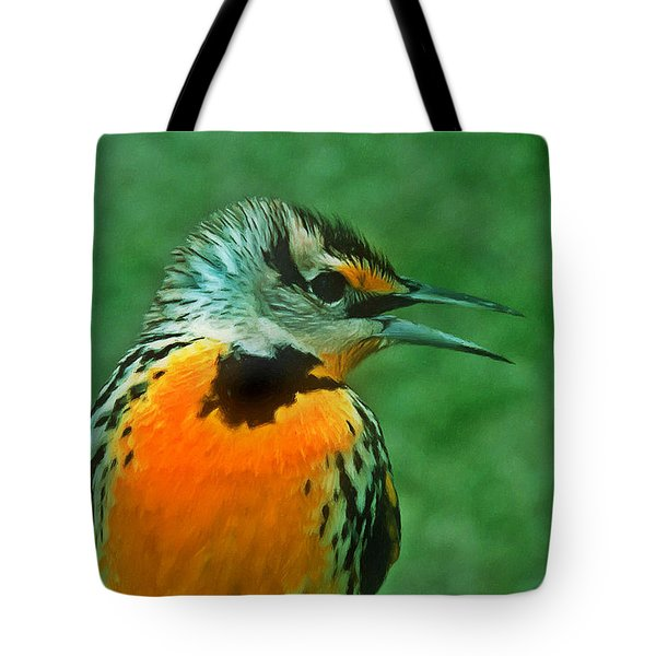 Kingfisher  Sitting On It's Perch Tote Bag by Lanjee Chee