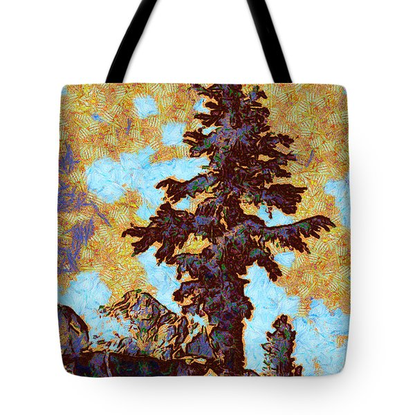 Kings River Canyon Colorized Tote Bag by Ansel Adams
