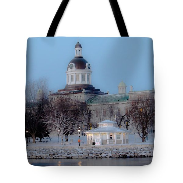 Kingston City Hall Tote Bag by Michel Soucy