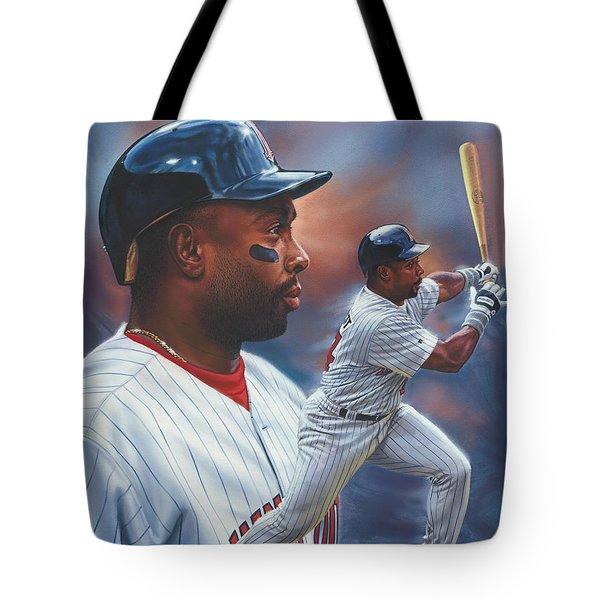 Kirby Puckett Minnesota Twins Tote Bag by Dick Bobnick