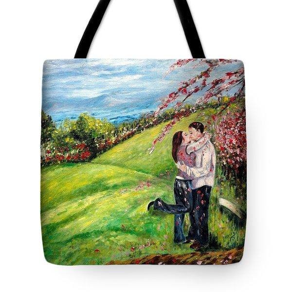 Kiss Tote Bag by Harsh Malik