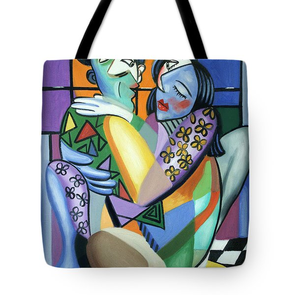 Kiss Me Tote Bag by Anthony Falbo