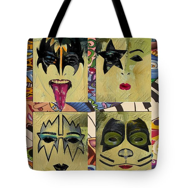 Kiss The Band Tote Bag by Corporate Art Task Force
