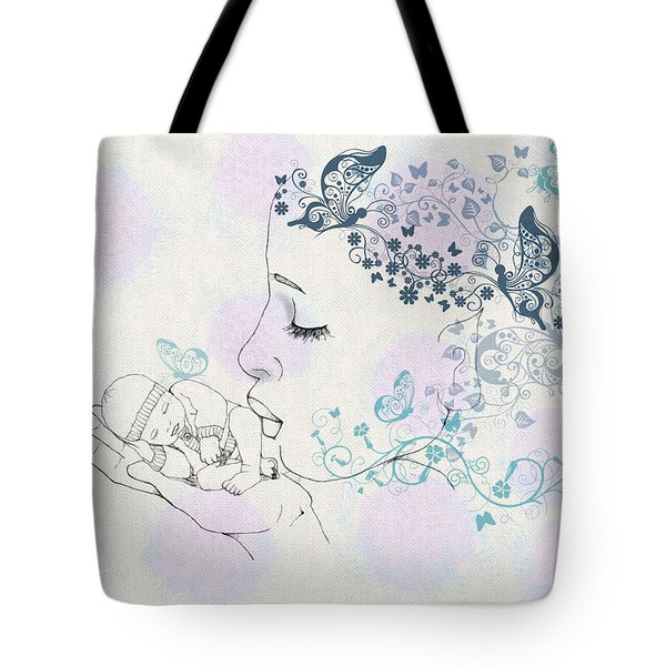 Kiss to a New Born Tote Bag by Barbara Orenya